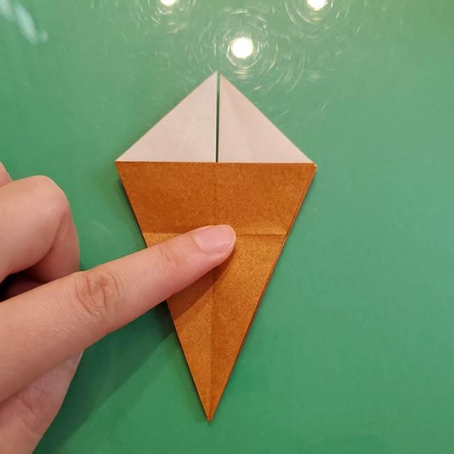 どんぐりの折り紙の折り方作り方(立体)③傘(23)