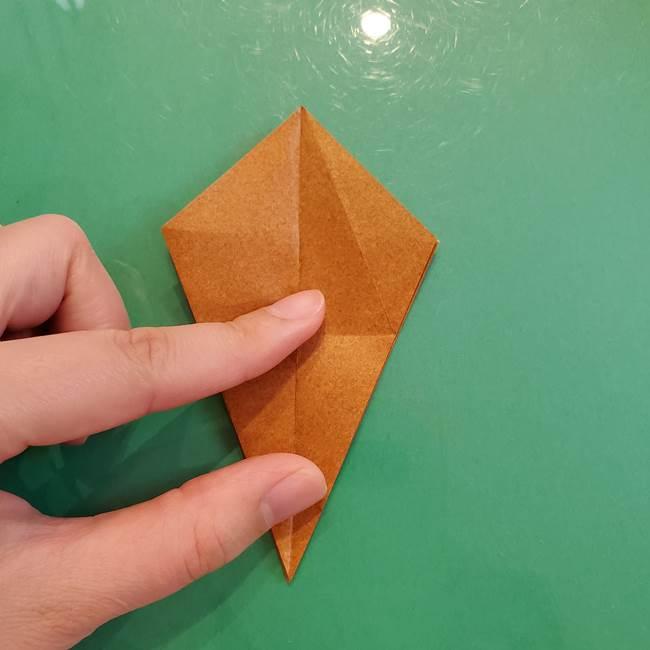 どんぐりの折り紙の折り方作り方(立体)③傘(24)