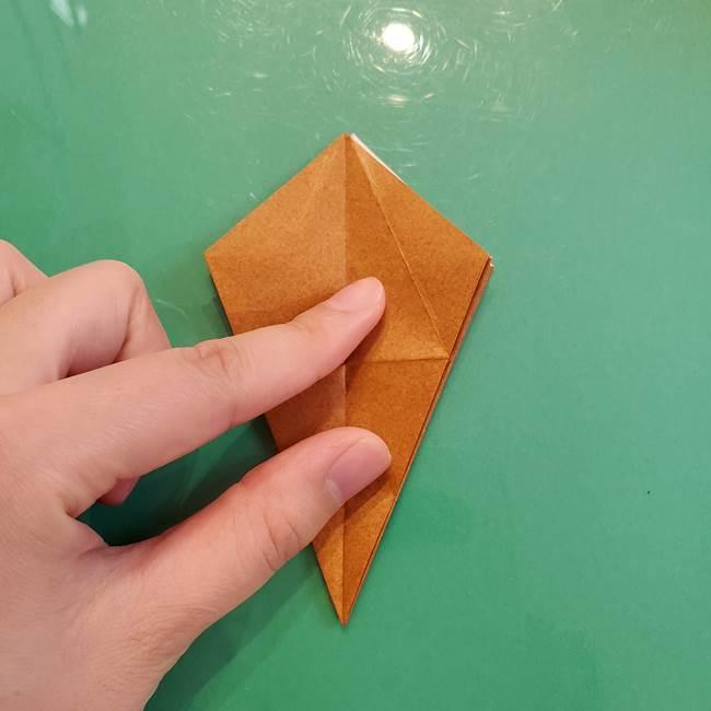 どんぐりの折り紙の折り方作り方(立体)③傘(26)