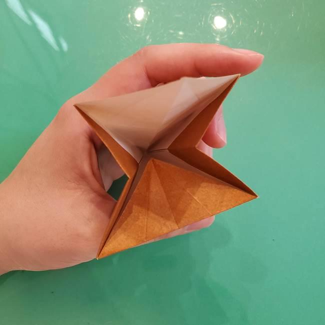 どんぐりの折り紙の折り方作り方(立体)③傘(28)