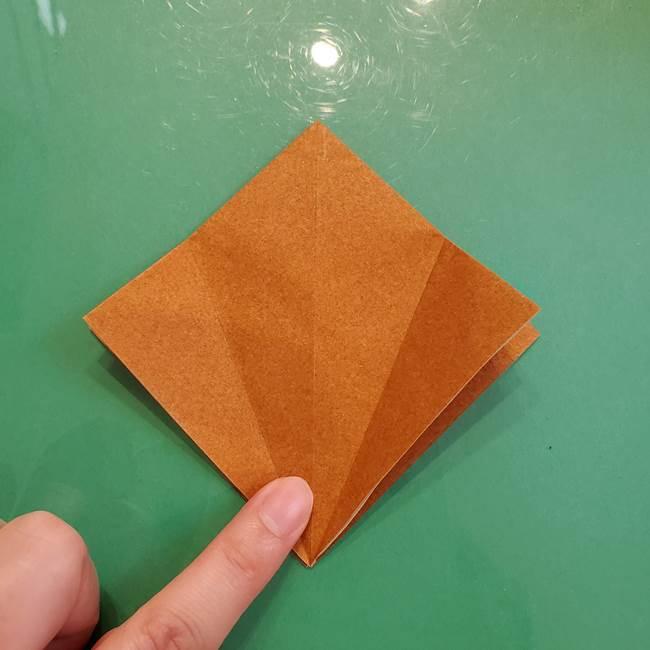 どんぐりの折り紙の折り方作り方(立体)③傘(3)