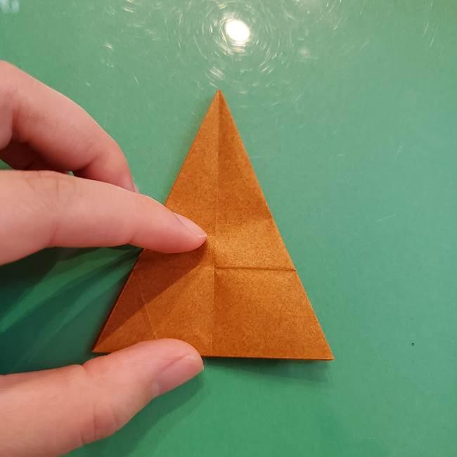 どんぐりの折り紙の折り方作り方(立体)③傘(31)