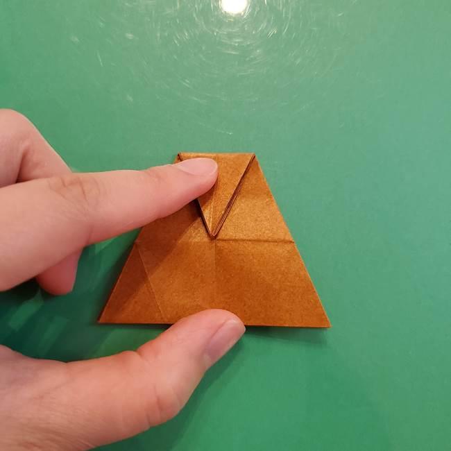 どんぐりの折り紙の折り方作り方(立体)③傘(32)