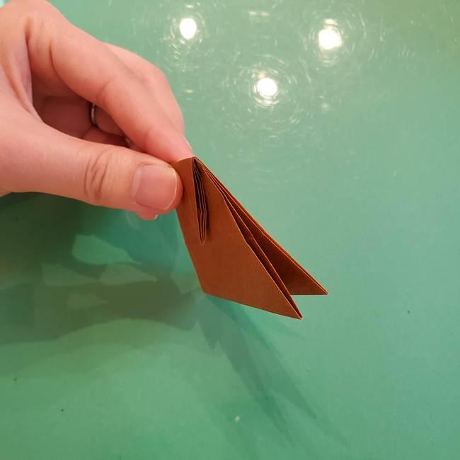 どんぐりの折り紙の折り方作り方(立体)③傘(33)