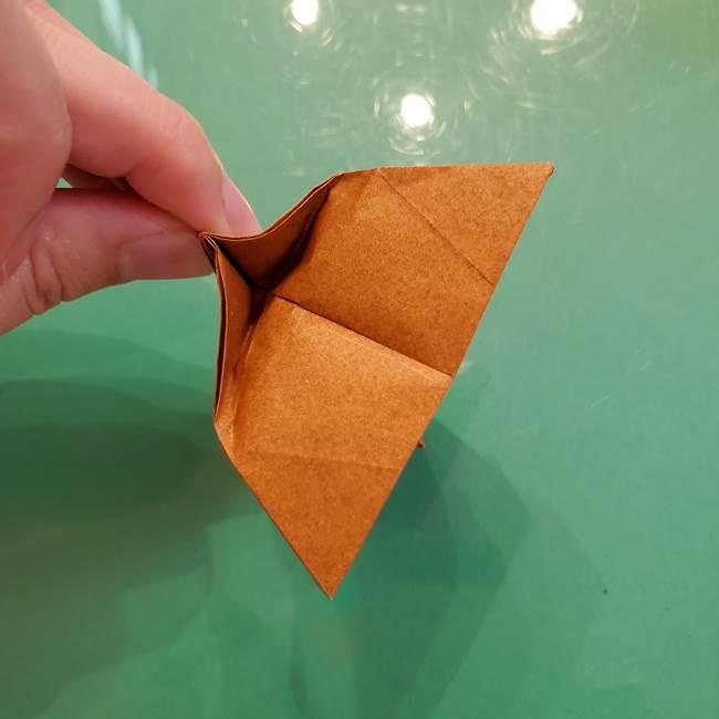 どんぐりの折り紙の折り方作り方(立体)③傘(34)