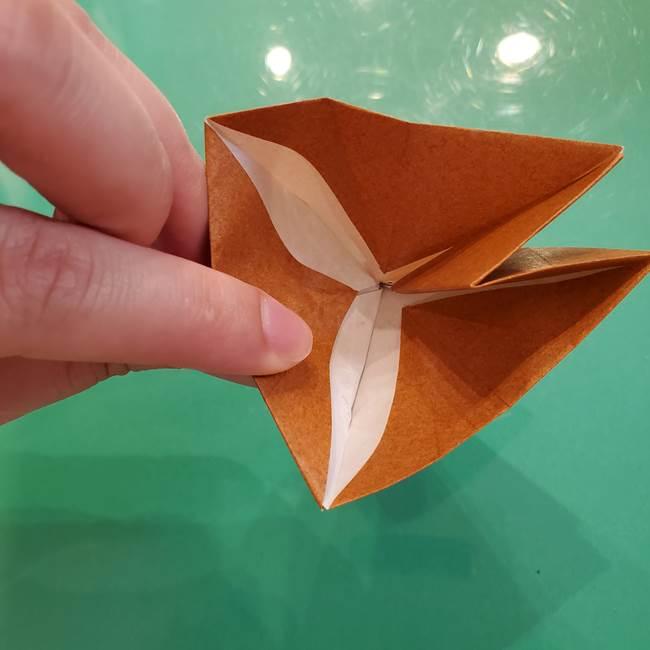 どんぐりの折り紙の折り方作り方(立体)③傘(35)