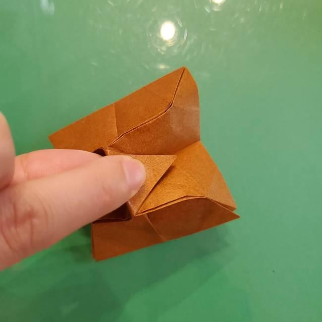 どんぐりの折り紙の折り方作り方(立体)③傘(36)
