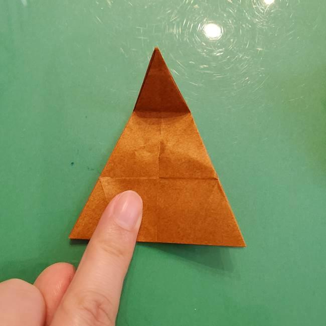 どんぐりの折り紙の折り方作り方(立体)③傘(37)