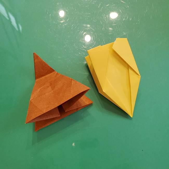 どんぐりの折り紙の折り方作り方(立体)③傘(38)