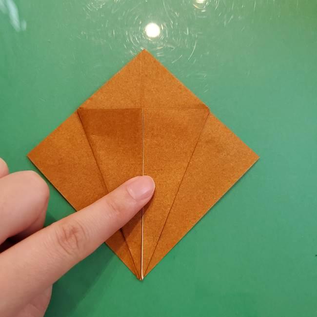 どんぐりの折り紙の折り方作り方(立体)③傘(5)