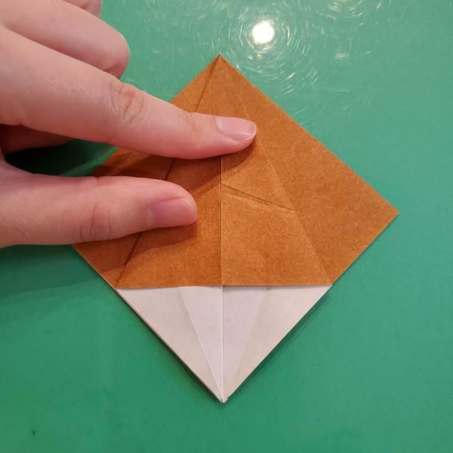 どんぐりの折り紙の折り方作り方(立体)③傘(9)