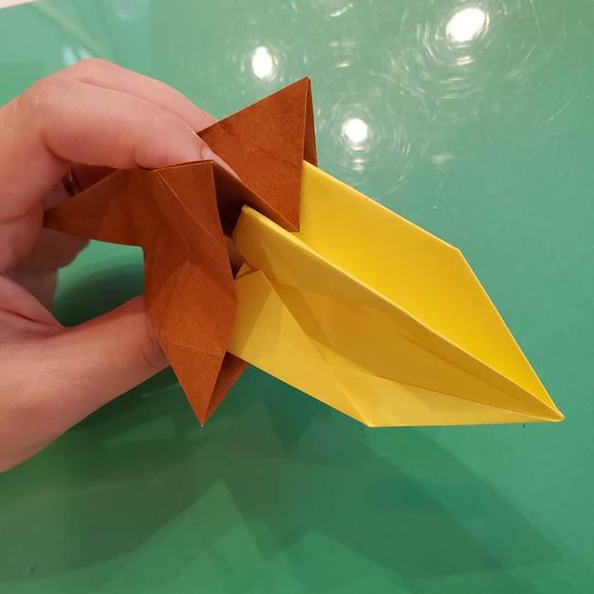 どんぐりの折り紙の折り方作り方(立体)④組み合わせ(1)
