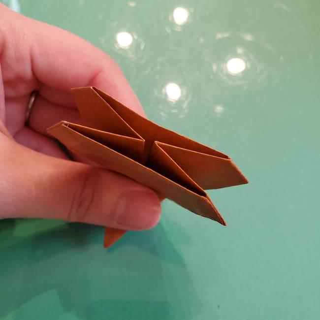 どんぐりの折り紙の折り方作り方(立体)④組み合わせ(11)