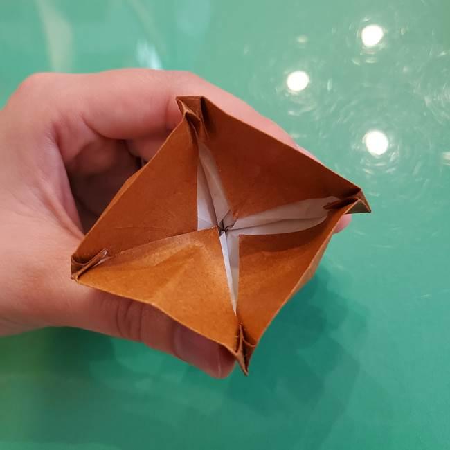 どんぐりの折り紙の折り方作り方(立体)④組み合わせ(12)