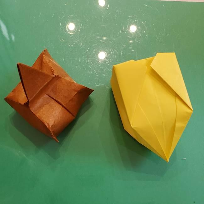 どんぐりの折り紙の折り方作り方(立体)④組み合わせ(13)