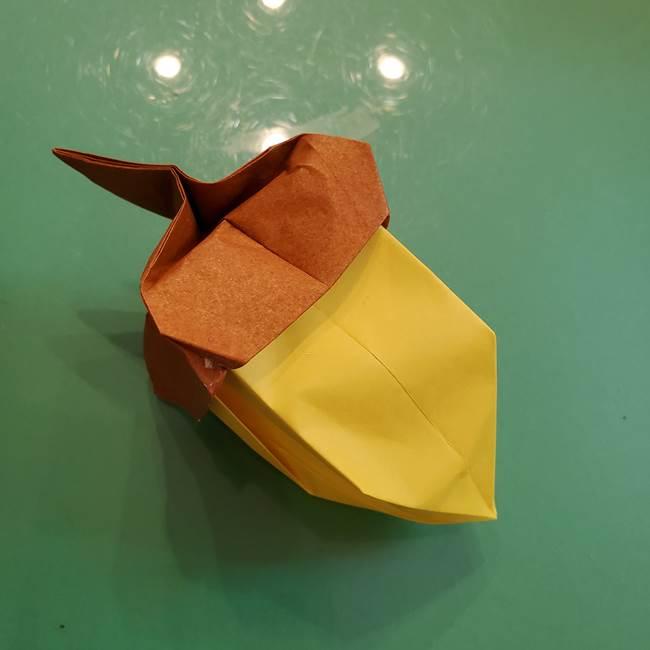 どんぐりの折り紙の折り方作り方(立体)④組み合わせ(15)