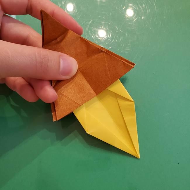 どんぐりの折り紙の折り方作り方(立体)④組み合わせ(2)