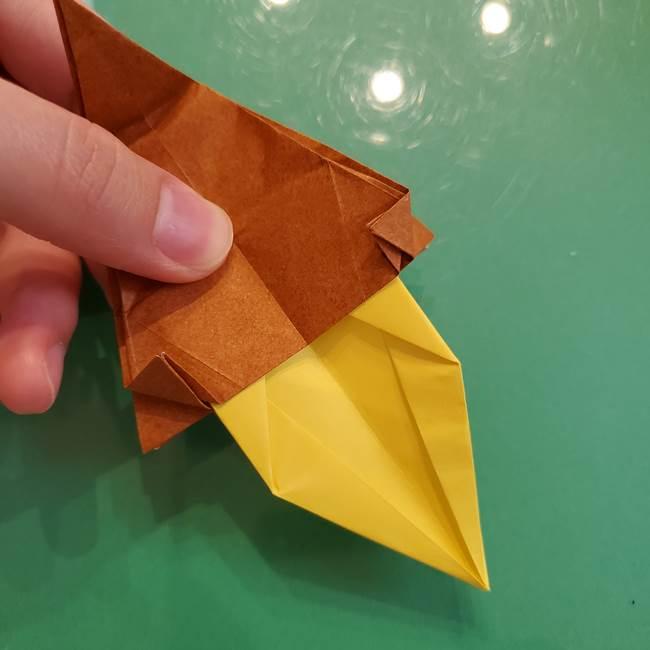 どんぐりの折り紙の折り方作り方(立体)④組み合わせ(3)