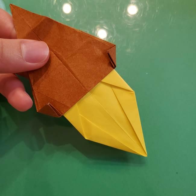 どんぐりの折り紙の折り方作り方(立体)④組み合わせ(4)