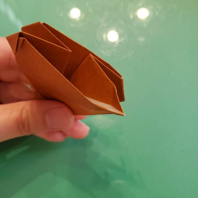 どんぐりの折り紙の折り方作り方(立体)④組み合わせ(6)