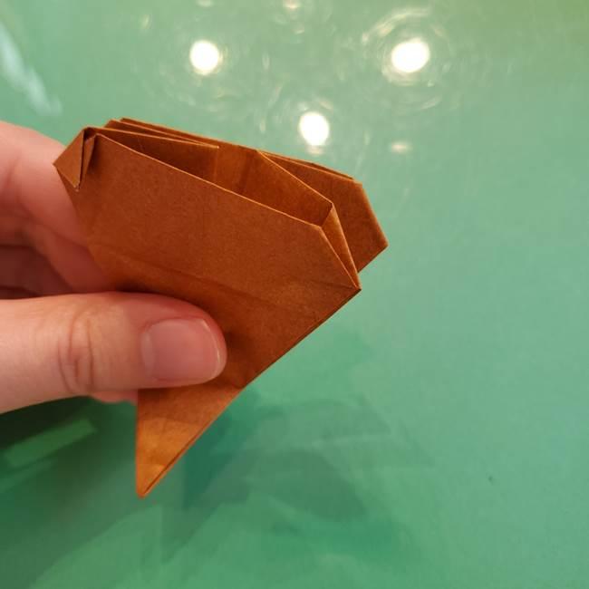 どんぐりの折り紙の折り方作り方(立体)④組み合わせ(8)