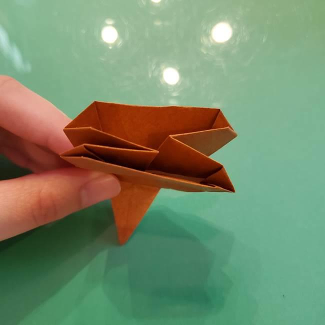 どんぐりの折り紙の折り方作り方(立体)④組み合わせ(9)