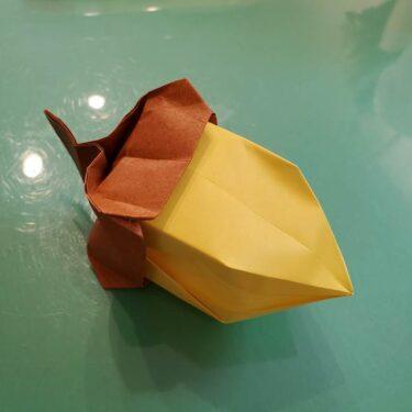 どんぐりの折り紙 立体的でも簡単?リアルでかわいい折り方作り方★