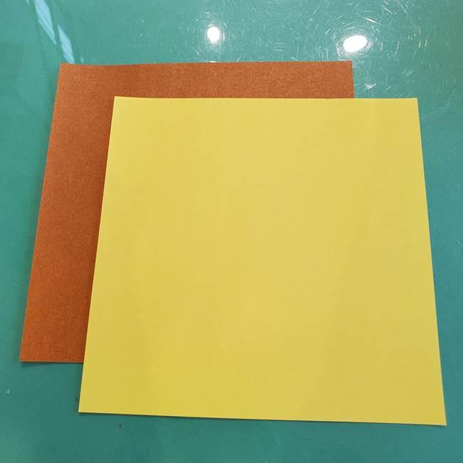 どんぐりの折り紙 立体的でも簡単?用意するもの(1)