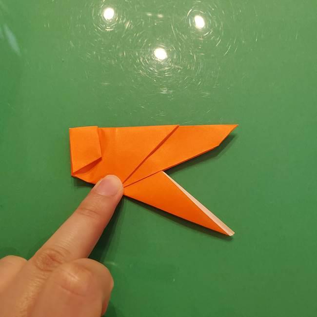 コオロギの折り紙(立体)の折り方作り方(27)