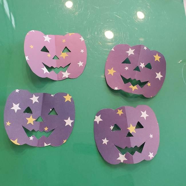ハロウィンのかぼちゃ 折り紙の切り抜きでつくる折り方切り方③切り方(8)