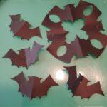 ハロウィンの折り紙 切り絵のコウモリの切り方折り方★簡単で今すぐできる飾りつけ♪