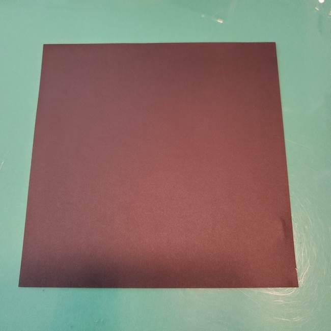 ハロウィンの折り紙 切り絵のコウモリ*用意するもの(1)