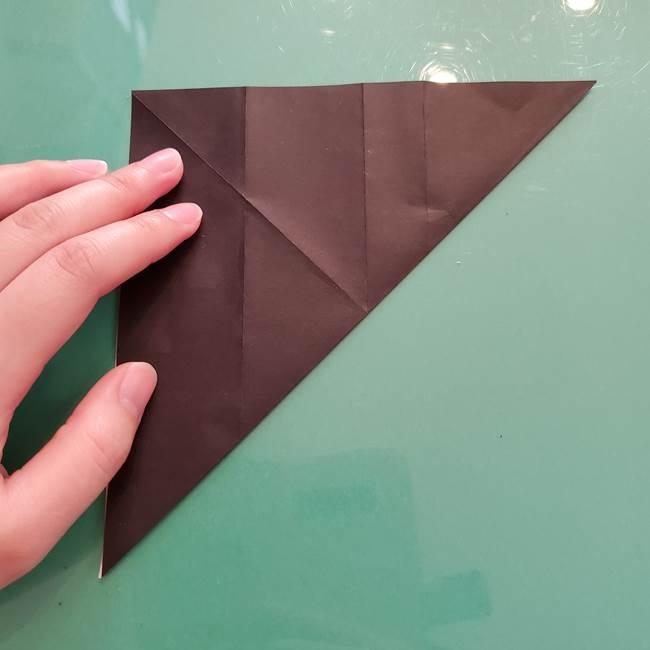 折り紙のコウモリがリアル!折り方作り方(立体)①前半(10)