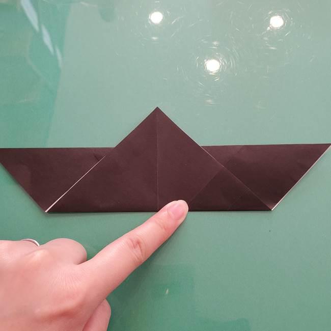 折り紙のコウモリがリアル!折り方作り方(立体)①前半(12)