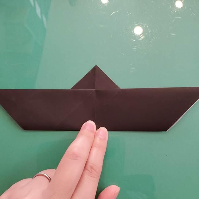 折り紙のコウモリがリアル!折り方作り方(立体)①前半(13)