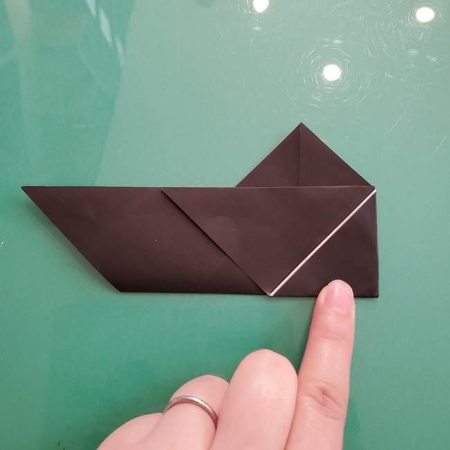 折り紙のコウモリがリアル!折り方作り方(立体)①前半(14)