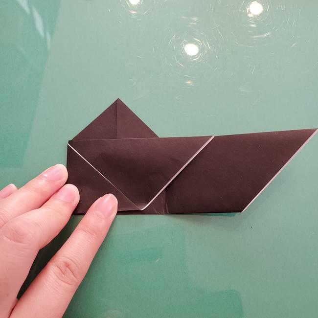 折り紙のコウモリがリアル!折り方作り方(立体)①前半(16)
