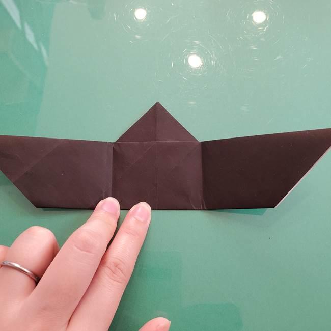 折り紙のコウモリがリアル!折り方作り方(立体)①前半(17)