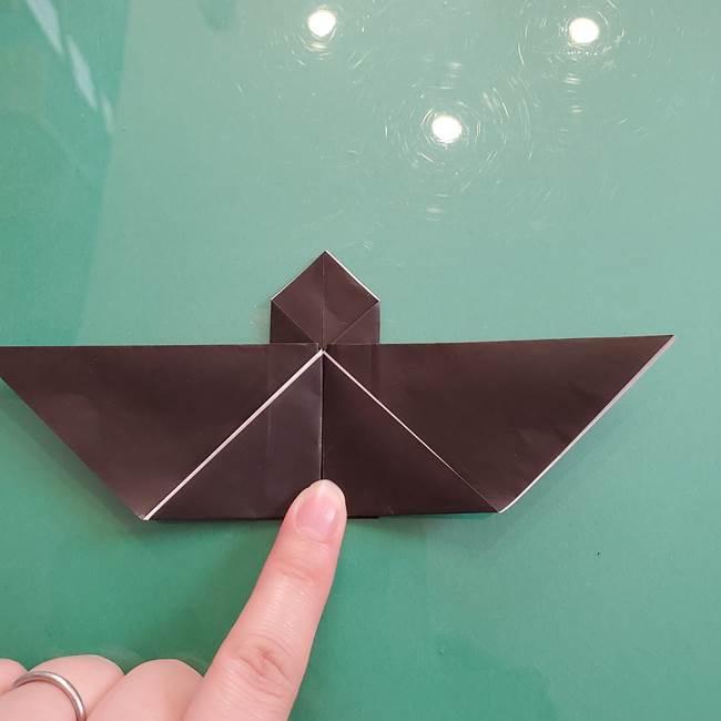 折り紙のコウモリがリアル!折り方作り方(立体)①前半(20)