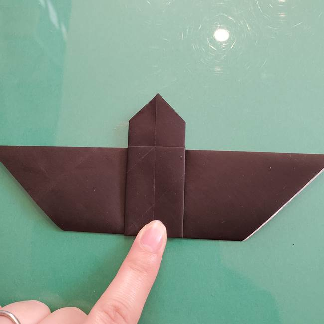 折り紙のコウモリがリアル!折り方作り方(立体)①前半(21)