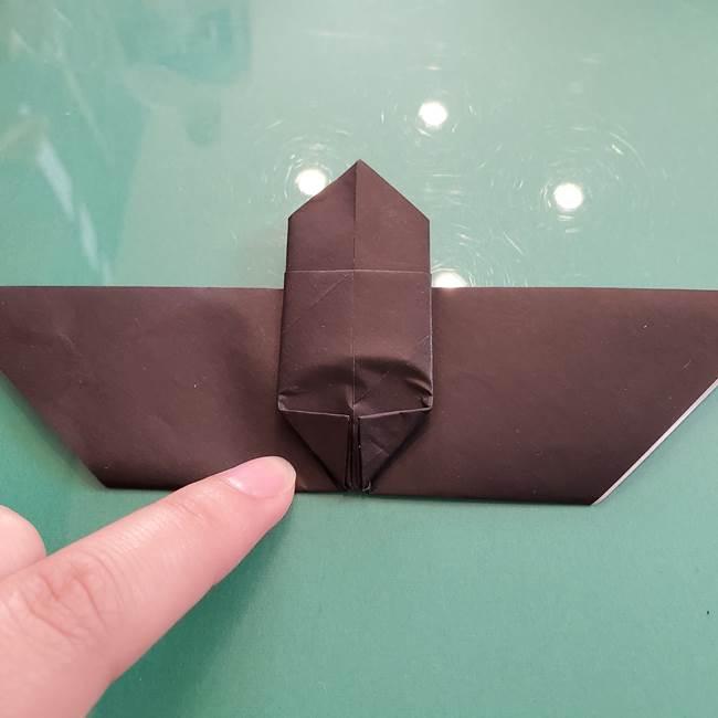 折り紙のコウモリがリアル!折り方作り方(立体)①前半(22)