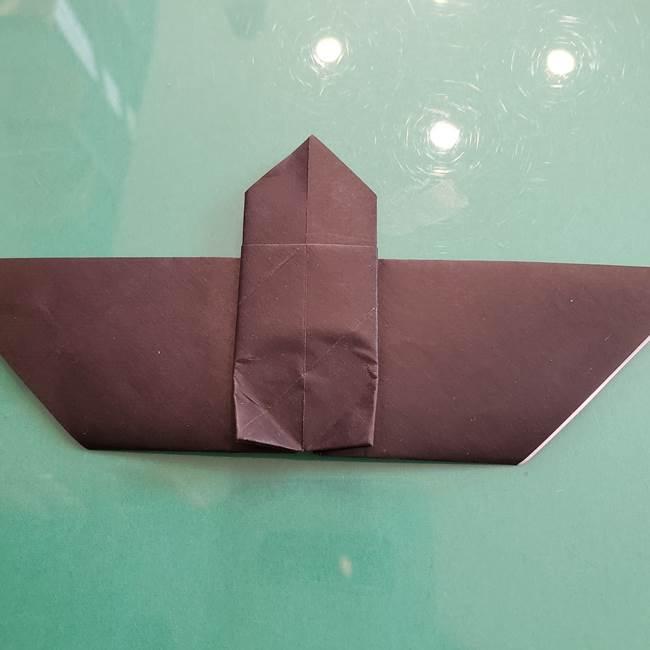 折り紙のコウモリがリアル!折り方作り方(立体)①前半(23)