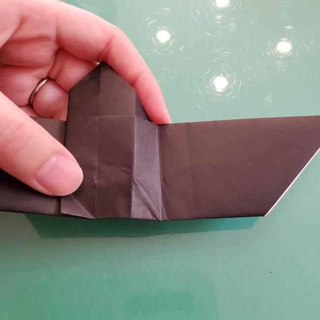 折り紙のコウモリがリアル!折り方作り方(立体)①前半(24)