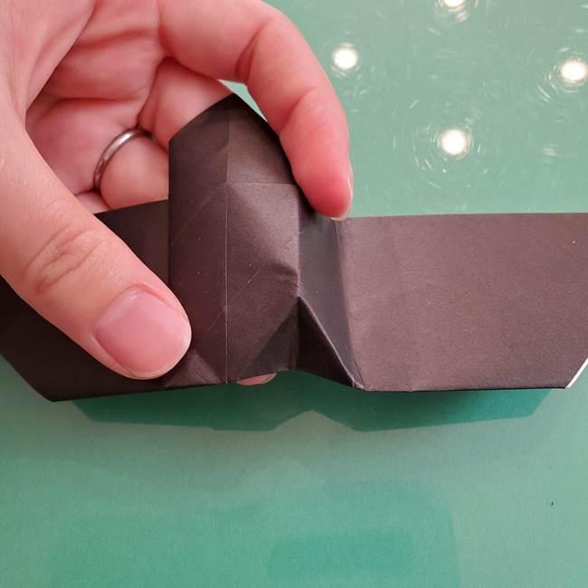 折り紙のコウモリがリアル!折り方作り方(立体)①前半(25)