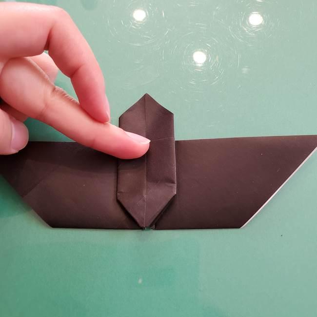折り紙のコウモリがリアル!折り方作り方(立体)①前半(27)