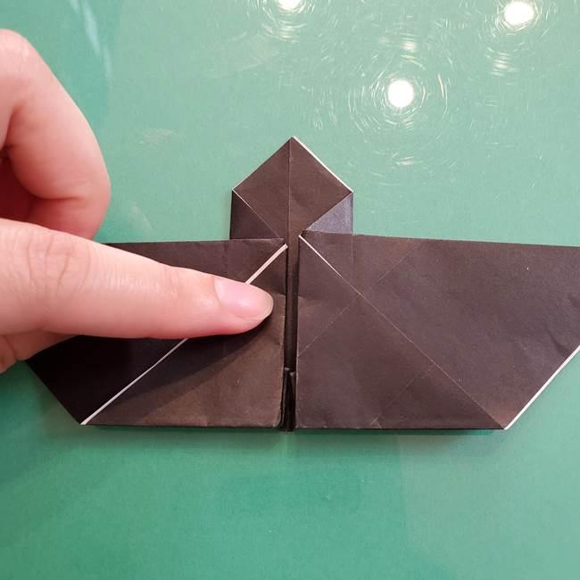 折り紙のコウモリがリアル!折り方作り方(立体)①前半(28)