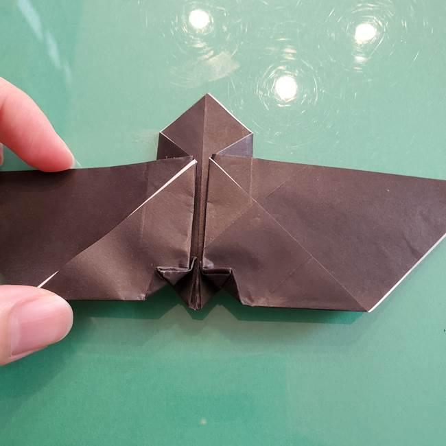 折り紙のコウモリがリアル!折り方作り方(立体)①前半(29)
