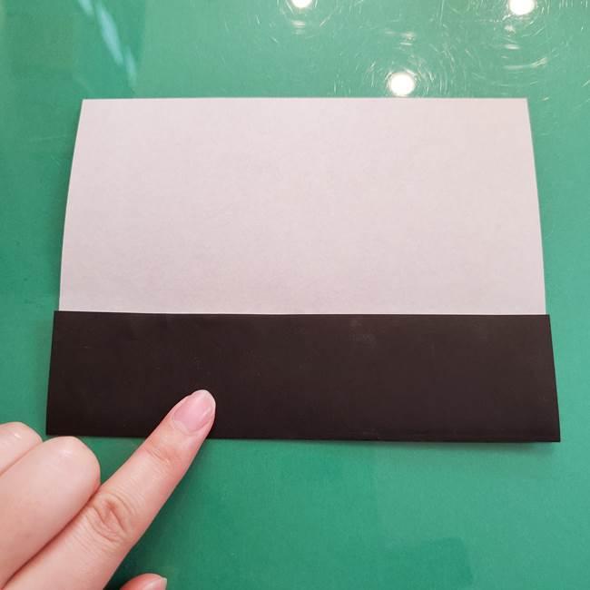 折り紙のコウモリがリアル!折り方作り方(立体)①前半(4)
