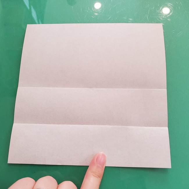 折り紙のコウモリがリアル!折り方作り方(立体)①前半(5)