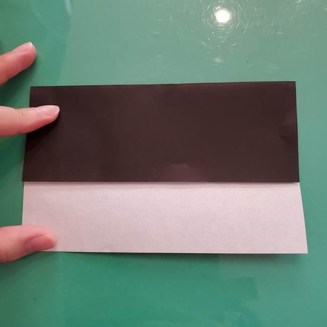 折り紙のコウモリがリアル!折り方作り方(立体)①前半(6)